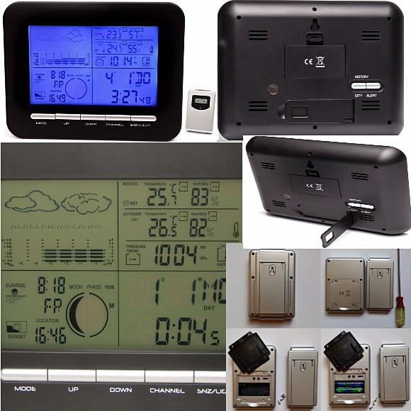 Уличный электронный термометр с выносным датчиком