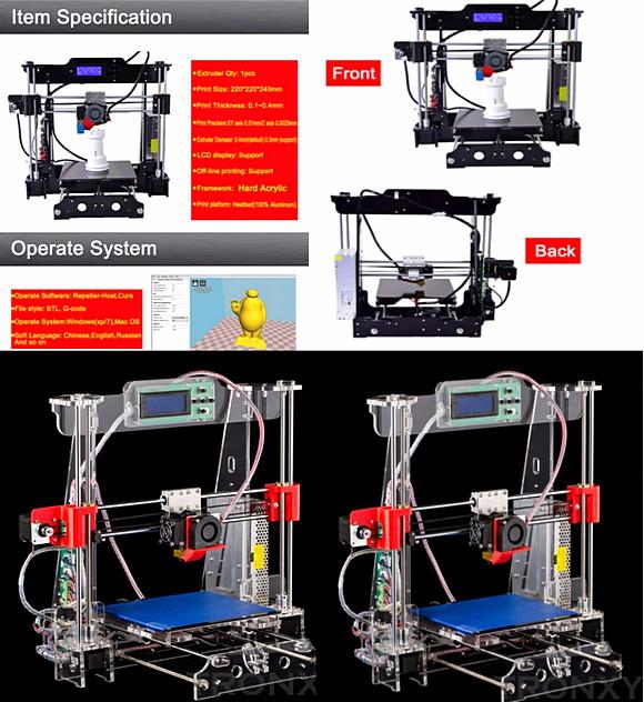 prusa i3 diy 3d принтер
